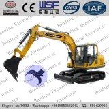 Yellow New Small Crawler Hydraulic Excavator Catching Wood Machine