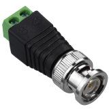 BNC Male Adaptor to Coaxial Power Jack Connector for CCTV