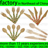 Custom Printed Party Disposable Wooden Utensils