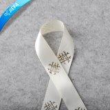 Factory Price Polyester Satin Ribbon, Hot Gold Logo Printed Ribbon/Webbing