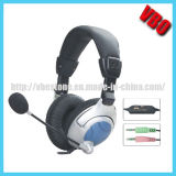 PC Stereo Headphone with Microophone and Viberation