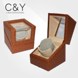 Good-Looking Single Orange PU Leather Watch Winder