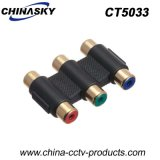 3CH RCA Female to RCA Female Connector, Nickel Plated (CT5033)