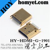 Hot Selling 19pin 1.6mm Pitch HDMI Splint-Type Connector with Gold Plated (HDMI-G-1901)