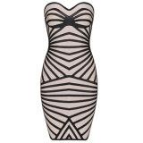 Black& White Sexy Tube Bodycon Show Thin Elastic Night Club Dresses