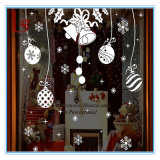 Christmas Small Bell and Snowflake Decorative Wall Sticker and Decal