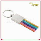 Promotion Gift Metal Key Chain with Woven Strap