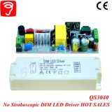 30-46W 0-10V Dimmable No Flicker Triangle LED Driver with Ce QS3040