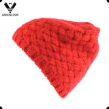 Fashion Knitted Cross Pattern Mohair Hat