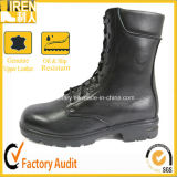 Black Leather Mens Army Boots