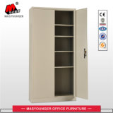 Beige Color Office Use Swing 2 Door File Storage Metal Cupboard