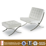 Living Room Sofa Chair with Ottoman (Barcelona)