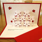 Christmas Eve Greeting Card Paper Blessing Cards
