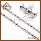 Cheap Bulk Nickel Colored Bead Ball Chains 3.2mm