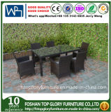 Viro Rattan Outdoor Dining Table Chair Set