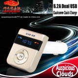 AC-2024 S8 Bluetooth Transmitter Car FM MP3 Player with Dual USB Charger