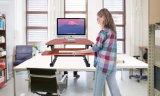 Jeo Jn-Ld07 Manual Adjustment Black Height Adjustable Sit to Stand Desk