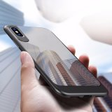 2 in 1 Luxury Acrylic Clear Shockproof Mobile Phone Case for iPhone X