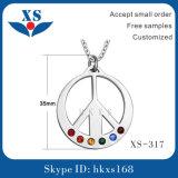Unisex Round Stainless Steel Pendant Jewelry