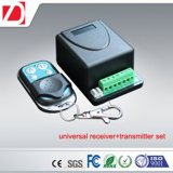 Universal Receiver with 2 Channels Garage Door Radio Transmitter and Receiver Kit