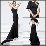 Black Party Prom Gowns Shawl 2017 Evening Dresses Z93165
