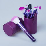 12 PCS Makeup Brush Set with PU Leather Cup Pouch
