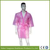 Disposable Non-Woven Kimono, SPA Coat with Pink Color