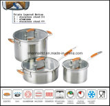 6 PCS Stainless Steel Cookware Set