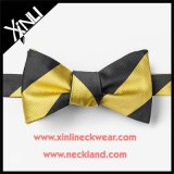 Wholesale Men 100% Silk Woven Black and Gold Bow Tie