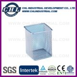 Colorful Office Desk Display Cube Shape Mesh Pen Stand