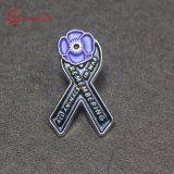 Custom Factory Metal Enamel Flower Pin Badge for Sovenir