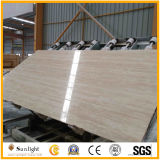 Turkey/Roman Travertine, Cream/Beige/Super White Travertine with Straight Veins/Cross Cut