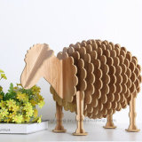 Wooden Crafts Arts Animal Furnishings Little Sheep Hotel Decoration