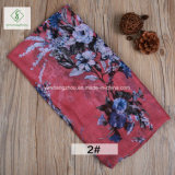 100% Viscose Retro Flowers Printed Shawl Fashion Lady Moslem Scarf