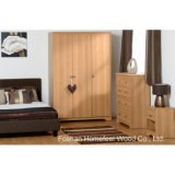 3 Piece Wooden Bedroom Furniture Set with Dresser Chest (BD11)