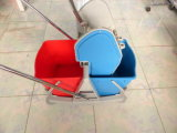 Plastic Double Mop Buckets Cleaning Trolley with Wringer and Four Wheels