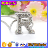 Wholesale Alloy Alphabet Letter Charm Pendant Snake Chain Necklace