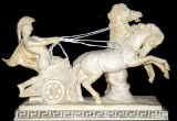 The Marble State Stone Carving Granite/Marble Chariot Sculpture