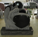 China Black Granite Monument Tombstone for European Market