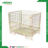 Wire Yellow Zinc Mesh Pallet Promotion Cages