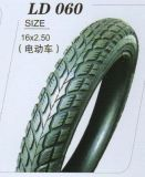 China Popular Sale Natural Rubber 6pr Motorcycle Electric Tire (16*2.50)