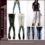 Fashion Sexy Jean Printing Spandex Legging for Lady