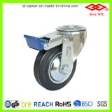 5 Inch Rotating Rubber Wheel Castor (G103-11D125X37.5S)
