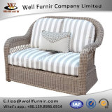Well Furnir Wicker Loveseat Sofa with Cushion WF-17023