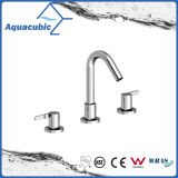 Sanitary Ware Three Hole Basin Faucet Brass Lavatory Faucet (AF0023-6)