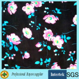 30s Rose Printing Design Rayon Fabric for Women Garments