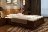 Solid Wooden Bed Modern Double Beds (M-X2251)