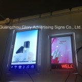 Wall Mounted Picture Crystal LED Light Box with Moving Message