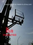 Transformer Supports Platform for Transmission Monopole