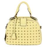 Flaxen Hand Tag and Stud Leather Woman Handbag (MBNO032093)